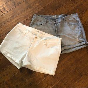 Boyfriend Fit Jean Shorts from Old Navy